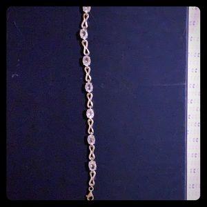 Aquamarine in sterling bracelet.